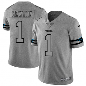 Wholesale Cheap Carolina Panthers #1 Cam Newton Men\'s Nike Gray Gridiron II Vapor Untouchable Limited NFL Jersey