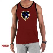 Wholesale Cheap Men's Nike NFL Baltimore Ravens Sideline Legend Authentic Logo Tank Top Red_1