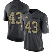Wholesale Cheap Nike Broncos #43 Joe Jones Black Youth Stitched NFL Limited 2016 Salute to Service Jersey