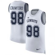 Wholesale Cheap Nike Cowboys #98 Tyrone Crawford White Men's Stitched NFL Limited Rush Tank Top Jersey