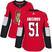 Wholesale Cheap Adidas Senators #51 Artem Anisimov Red Home Authentic Women's Stitched NHL Jersey
