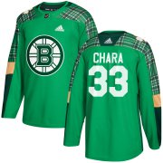 Wholesale Cheap Adidas Bruins #33 Zdeno Chara adidas Green St. Patrick's Day Authentic Practice Stitched NHL Jersey