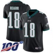 Wholesale Cheap Nike Eagles #18 Jalen Reagor Black Alternate Men's Stitched NFL 100th Season Vapor Untouchable Limited Jersey