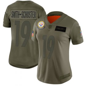 Wholesale Cheap Nike Steelers #19 JuJu Smith-Schuster Camo Women\'s Stitched NFL Limited 2019 Salute to Service Jersey