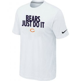 Wholesale Cheap Nike Chicago Bears Just Do It White T-Shirt