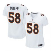Wholesale Cheap Nike Broncos #58 Von Miller White Women's Stitched NFL Game Event Jersey