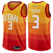Wholesale Cheap Nike Utah Jazz #3 Ricky Rubio Orange NBA Swingman City Edition Jersey