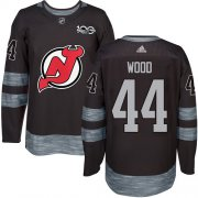 Wholesale Cheap Adidas Devils #44 Miles Wood Black 1917-2017 100th Anniversary Stitched NHL Jersey