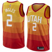 Wholesale Cheap Nike Utah Jazz #2 Joe Ingles Orange NBA Swingman City Edition Jersey