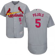 Wholesale Cheap Cardinals #5 Albert Pujols Grey Flexbase Authentic Collection Stitched MLB Jersey