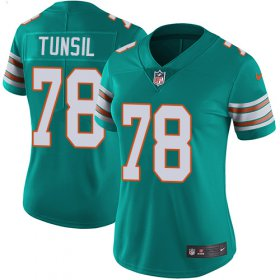 Wholesale Cheap Nike Dolphins #78 Laremy Tunsil Aqua Green Alternate Women\'s Stitched NFL Vapor Untouchable Limited Jersey