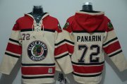 Wholesale Cheap Blackhawks #72 Artemi Panarin Cream Sawyer Hooded Sweatshirt Stitched NHL Jersey