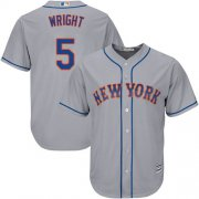 Wholesale Cheap Mets #5 David Wright Grey Cool Base Stitched Youth MLB Jersey