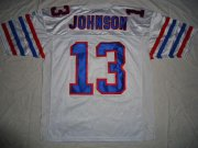 Wholesale Cheap Bills #13 Steve Johnson White Stitched NFL Jersey