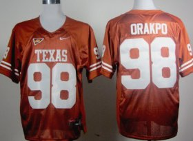 Wholesale Cheap Texas Longhorns #98 Brian Orakpo Orange Jersey