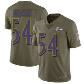 Wholesale Cheap Nike Ravens #54 Tyus Bowser Olive Men\'s Stitched NFL Limited 2017 Salute To Service Jersey