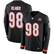 Wholesale Cheap Nike Bengals #98 D.J. Reader Black Team Color Men's Stitched NFL Limited Therma Long Sleeve Jersey