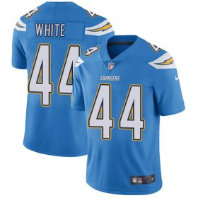 Wholesale Cheap Nike Chargers #44 Kyzir White Electric Blue Alternate Men\'s Stitched NFL Vapor Untouchable Limited Jersey