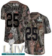 Wholesale Cheap Nike 49ers #25 Richard Sherman Camo Super Bowl LIV 2020 Men's Stitched NFL Limited Rush Realtree Jersey