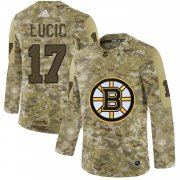 Wholesale Cheap Adidas Bruins #17 Milan Lucic Camo Authentic Stitched NHL Jersey