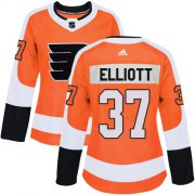Wholesale Cheap Adidas Flyers #37 Brian Elliott Orange Home Authentic Women's Stitched NHL Jersey