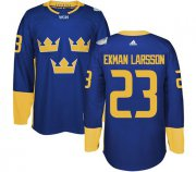 Wholesale Cheap Team Sweden #23 Oliver Ekman-Larsson Blue 2016 World Cup Stitched NHL Jersey