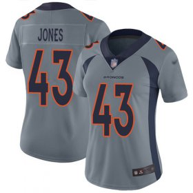Wholesale Cheap Nike Broncos #43 Joe Jones Gray Women\'s Stitched NFL Limited Inverted Legend Jersey
