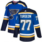 Wholesale Cheap Adidas Blues #77 Pierre Turgeon Blue Home Authentic Stitched NHL Jersey