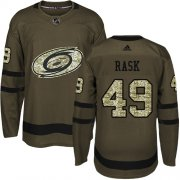 Wholesale Cheap Adidas Hurricanes #49 Victor Rask Green Salute to Service Stitched Youth NHL Jersey