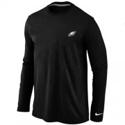 Wholesale Cheap Nike Philadelphia Eagles Sideline Legend Authentic Logo Long Sleeve T-Shirt Black
