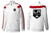 Wholesale Cheap NHL Los Angeles Kings Zip Jackets White-4