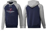 Wholesale Cheap Houston Texans Critical Victory Pullover Hoodie Dark Blue & Grey