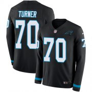 Wholesale Cheap Nike Panthers #70 Trai Turner Black Team Color Men's Stitched NFL Limited Therma Long Sleeve Jersey