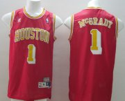Wholesale Cheap Houston Rockets #1 Tracy McGrady Red With Gold Swingman Throwback Jersey