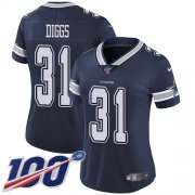 Wholesale Cheap Nike Cowboys #31 Trevon Diggs Navy Blue Team Color Women's Stitched NFL 100th Season Vapor Untouchable Limited Jersey