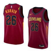 Wholesale Cheap Men's Nike Cavaliers #26 Kyle Korver Red Stitched NBA Swingman Jersey