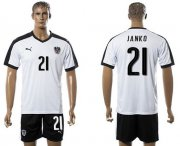 Wholesale Cheap Austria #21 Janko White Away Soccer Country Jersey