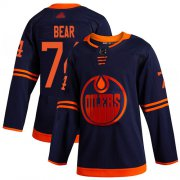 Wholesale Cheap Adidas Oilers #74 Ethan Bear Navy Alternate Authentic Stitched NHL Jersey