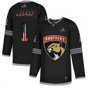 Wholesale Cheap Florida Panthers #1 Roberto Luongo Adidas Men's Black USA Flag Limited NHL Jersey