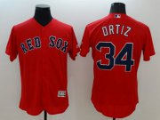 Wholesale Cheap Red Sox #34 David Ortiz Red Flexbase Authentic Collection Stitched MLB Jersey