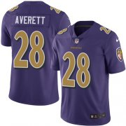 Wholesale Cheap Nike Ravens #28 Anthony Averett Purple Men's Stitched NFL Limited Rush Jersey