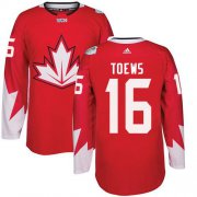 Wholesale Cheap Team Canada #16 Jonathan Toews Red 2016 World Cup Stitched Youth NHL Jersey