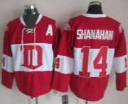Wholesale Cheap Red Wings #14 Brendan Shanahan Red Winter Classic CCM Throwback Stitched NHL Jersey