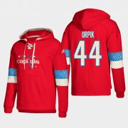 Wholesale Cheap Washington Capitals #44 Brooks Orpik Red adidas Lace-Up Pullover Hoodie