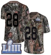 Wholesale Cheap Nike Rams #28 Marshall Faulk Camo Super Bowl LIII Bound Men's Stitched NFL Limited Rush Realtree Jersey