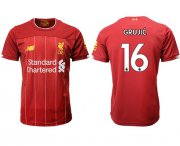 Wholesale Cheap Liverpool #16 Grujic Red Home Soccer Club Jersey