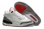 Wholesale Cheap Air Jordan 3 Retro Air Logo Tab White/Gray Cement-Red