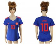 Wholesale Cheap Women's Colombia #10 James Away Soccer Country Jersey