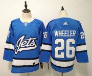 Wholesale Cheap Adidas Jets #26 Blake Wheeler Blue Alternate Authentic Pro Stitched NHL Jersey