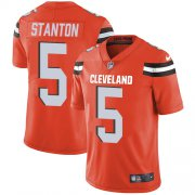 Wholesale Cheap Nike Browns #5 Drew Stanton Orange Alternate Men's Stitched NFL Vapor Untouchable Limited Jersey